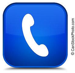 Phone icon special blue square button