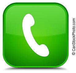 Phone icon special green square button