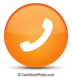 Phone icon special orange round button