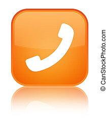 Phone icon special orange square button