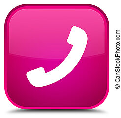 Phone icon special pink square button