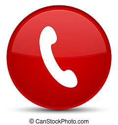 Phone icon special red round button