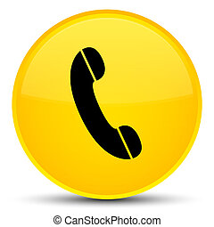 Phone icon special yellow round button