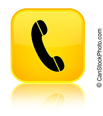 Phone icon special yellow square button