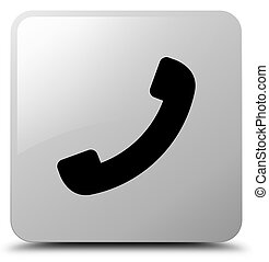 Phone icon white square button