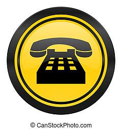 phone icon, yellow logo, telephone sign
