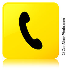 Phone icon yellow square button