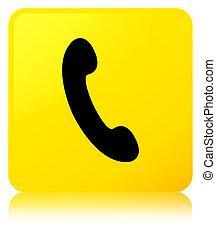 Phone icon yellow square button