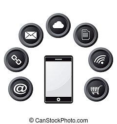 Phone icons infographic