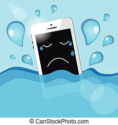 phone into the water