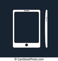 Phone Isolated on Black Background
