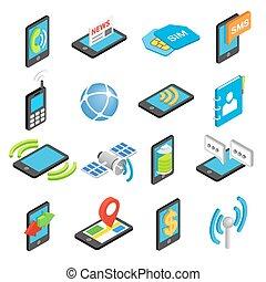 Phone isometric 3d icons