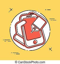 Phone label icon
