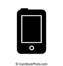 Phone line icon. Vector illustration isolated on white background.