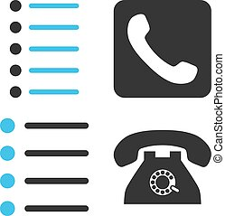 Phone List Flat Vector Icons