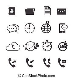 Phone mail icon set