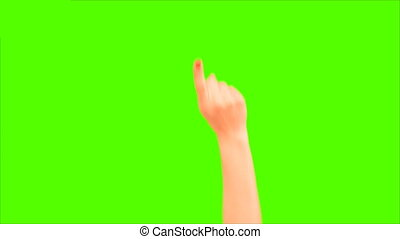 phone multitouch scree green screen