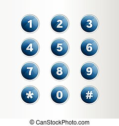 Phone number blue button on gray background