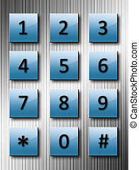 Phone numbers - Fururistic phone numbers over chrome ...