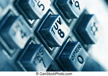 Phone numbers - Close-up shot of phone numbers on a public...
