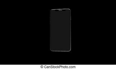 Phone on a black background. Beautiful black phone. 14 -...