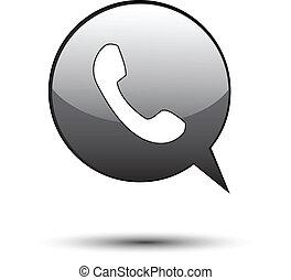 Phone on black