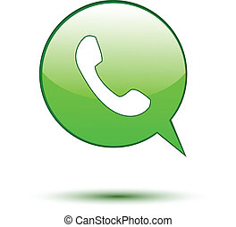 Phone on green