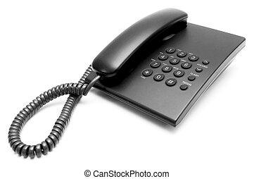 Phone on white background.