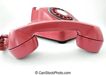 phone - old pink phone