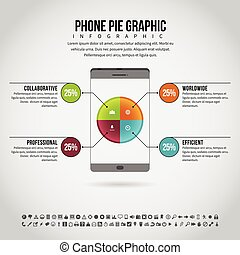 Phone Pie Graphic