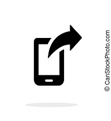 Phone posted icon on white background.