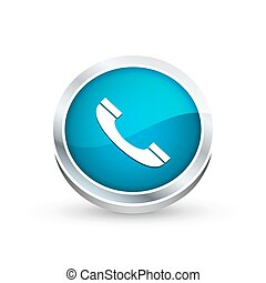 Phone r icon, button