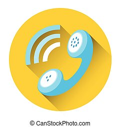 Phone Receiver Outgoing Call Icon