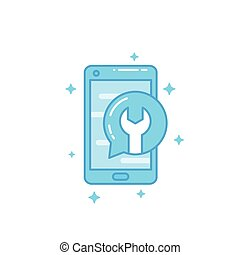 phone repair, recovery vector icon
