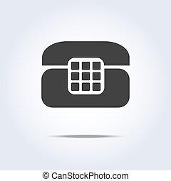 Phone retro icon in gray colors