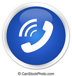 Phone ringing icon blue button