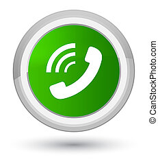 Phone ringing icon prime green round button