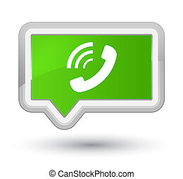 Phone ringing icon prime soft green banner button