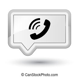 Phone ringing icon prime white banner button