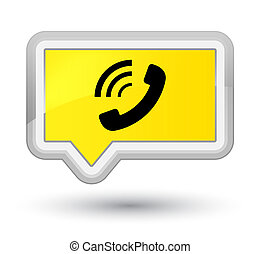 Phone ringing icon prime yellow banner button