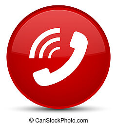 Phone ringing icon special red round button