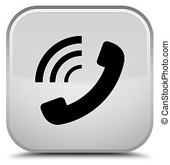 Phone ringing icon special white square button