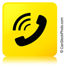Phone ringing icon yellow square button