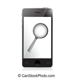 phone search concept illustration design