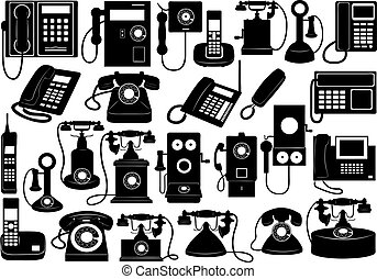 Phone set isolated on white