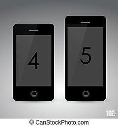 Phone set . Vector