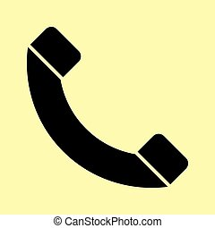Phone sign. Flat style icon