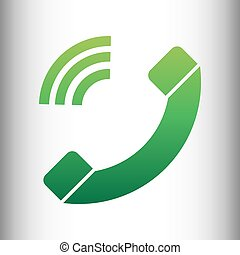 Phone sign. Green gradient icon