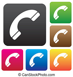 Phone sign icon.