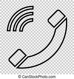 Phone sign. Line icon